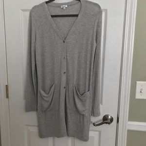 Splendid Long Grey Cardigan/Dress - Sz M